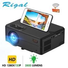 Rigal RD813 Máy Chiếu Mini WiFi Đa Màn Hình Máy Chiếu Gia Đình Proyector 3D Bộ Phim HD Hỗ Trợ 1080P