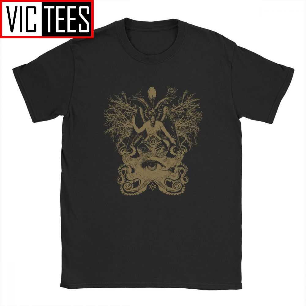 Degli uomini di Baphomet T Camicia Satana Diavolo Lucifero Culto Vestiti di Cotone Divertimento O Collo 3D Stampa T-Shirt di Grandi Dimensioni
