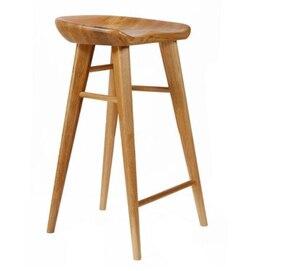 Silla de Bar de madera maciza Silla de comedor hogar Nordic registro Silla de Bar Simple de base alta taburete frente Silla de escritorio estudio silla