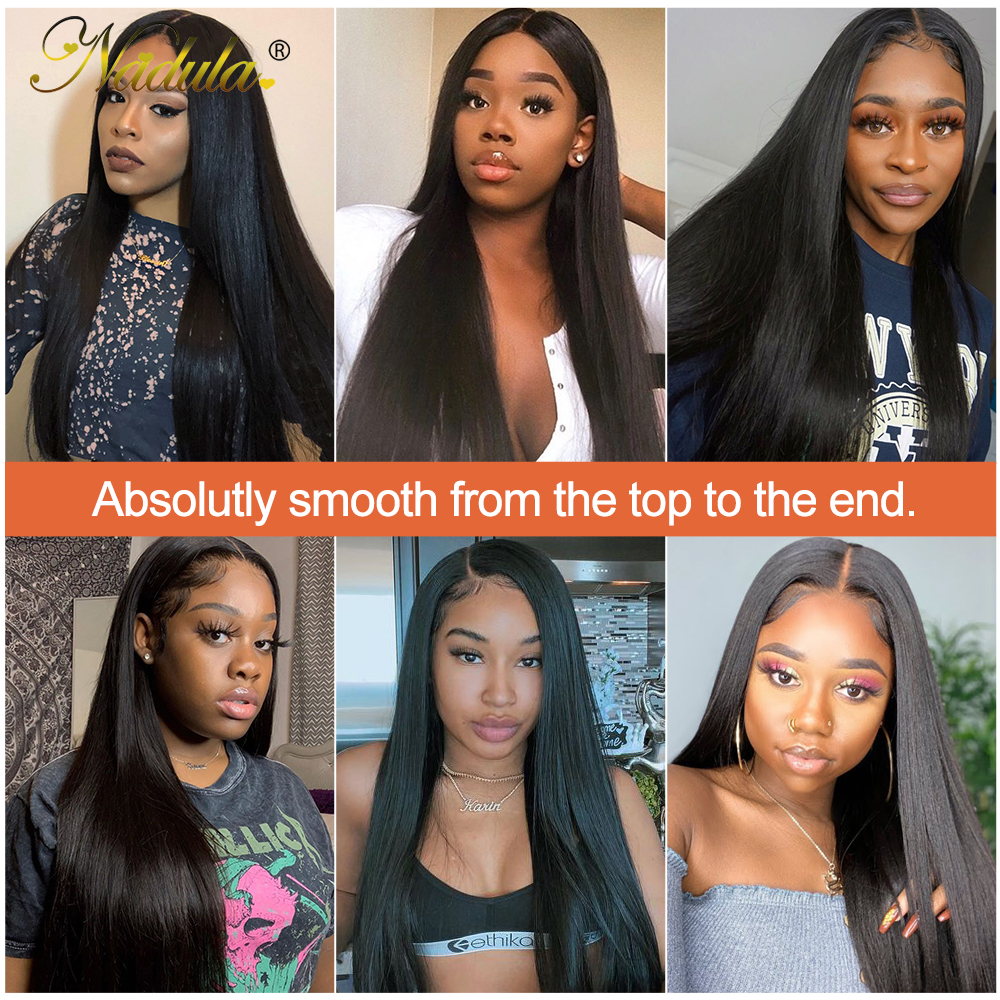 Nadula Hair 13x4 Lace Front  Wigs Pre Plucked Wig Straight Lace Front Wig 360 Lace Frontal Wig 5x5 HD Lace Wig 6