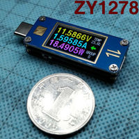 Two-way YZXSTUDIO ZY1278 USB-C 3.1 Gen2 Type-C Voltage Ammeter Tester meter