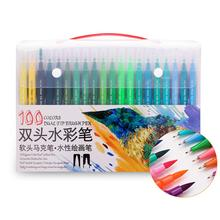 60 72 100 Colors Watercolor Markers for Drawing Painting Set