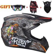 цена на 2019 Professional Motorcycle Helmet Racing Motocross Casque hors route Casque Moto Capacete Moto Casco Off-road Cartoon Children