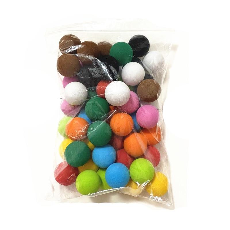 50pcs 30mm 10 Colors Golf Balls EVA Foam Soft Sponge Balls Golf/Tennis Training for Indoor Golf Practice Children Toy Ball