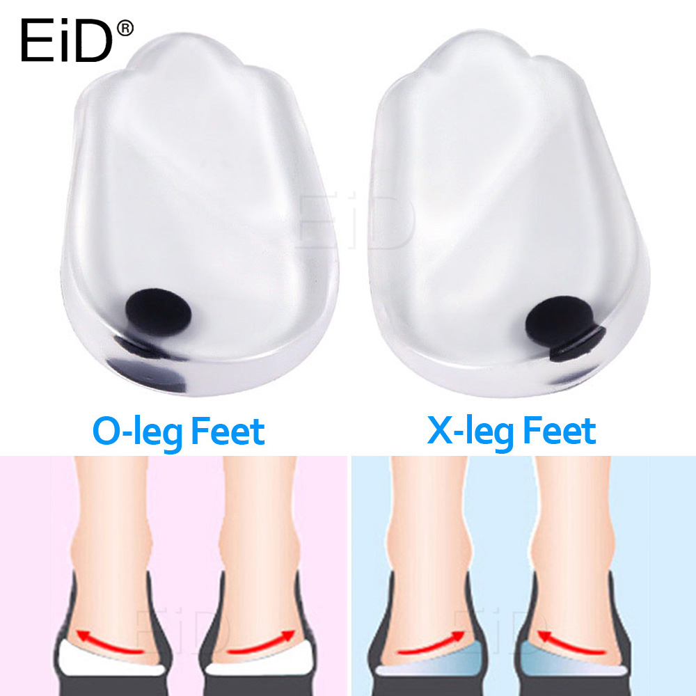 EiD Silicone Gel Orthotic  Heel Pad For XO Legs Orthopedic Varus Correct  Plantar Fasciitis Pain Relief Foot Care Insert Insoles