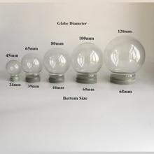 Рекламный подарок, пустые стеклянные снежные шары диаметром 45/65/80100/120 мм, оптом