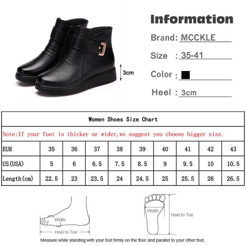 2019 yeni kadın sıcak kar botları kış kadın toka fermuar yarım çizmeler kadın Pu deri düşük topuk kadın moda rahat ayakkabılar