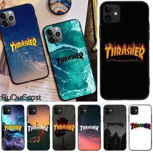 LJHYDFCNB Thrasher Goat Logo Skateboard brand Phone Case For iphone 5C 5 6 6s plus 7 8 SE 7 8 plus X XR XS MAX 11 Pro Max Cover(China)