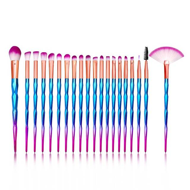 20Pcs Diamond Makeup Brushes Set Powder Foundation Blush Blending Eye shadow Lip Cosmetic Beauty Make Up Brushes Multifunctional 1