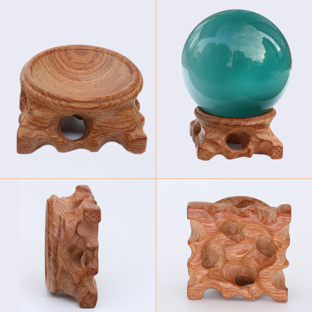 Wooden Display Stand Base For Large Crystal Ball 40mm 50mm 60mm 80mm 100mm Big Glass Globe Lensball Magic Sphere Gift Holder