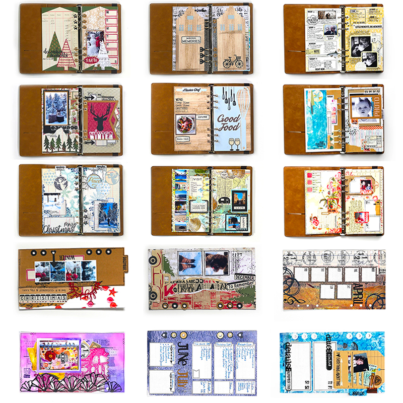 2020 Hot New Planner Metal Cutting Dies Tag Note Book Scrapbooking Foil For Card Making Stamps Background And Memory Die Cut Set