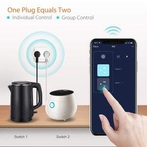 Image 5 - EU Wifi Smart Socket 16A 2 In 1 Smart Plug Tuya Wireless Outlet Power Monitor Energy Saver Works With Google Home Amazon Alexa