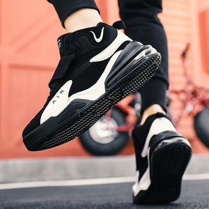 Image 5 - 남자 여자 쿠션 농구 신발 최대 크기 45 농구 스 니 커 즈 Anti skid 높은 상위 신발 남성 스웨이드 농구 부츠 2019