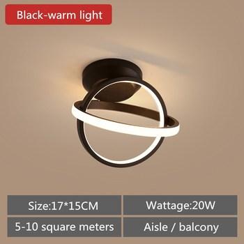 Artpad Modern Ceiling Lamp Hallway Aisle Balcony Nordic Wrought Iron LED Ceiling Light Indoor Lighting 20W Black White AC90-260V 10