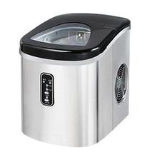 Mini máquina para hacer cubitos de hielo para el hogar, máquina pequeña para hacer cubitos de hielo de escritorio de acero inoxidable, 15kg, Manual, Comercial