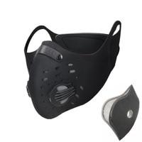 Xintown homem/mulher ativado carbono à prova de poeira ciclismo máscara facial anti poluição bicicleta ao ar livre correndo máscara protetor facial cm2|running mask|face mask|mask running -