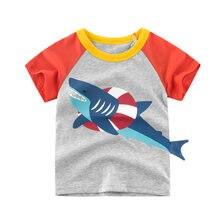 Crianças meninos roupas de verão menino menina manga curta t camisas topos algodão dos desenhos animados t 2 3 4 6 7 8 ano crianças camiseta roupas