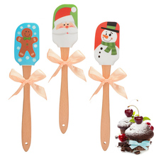 1PC Spatula Baking Scraper Cream Butter Cartoon Silicone Handled Brushes Pastry Tools Kitchen Utensil Cake Spatula Cooking Cake