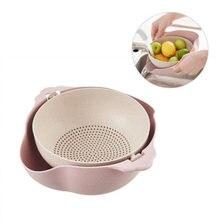Guia de alimentos, cesta dupla-camada para escordor de alimentos, para frutas, tigela, coador, filtro