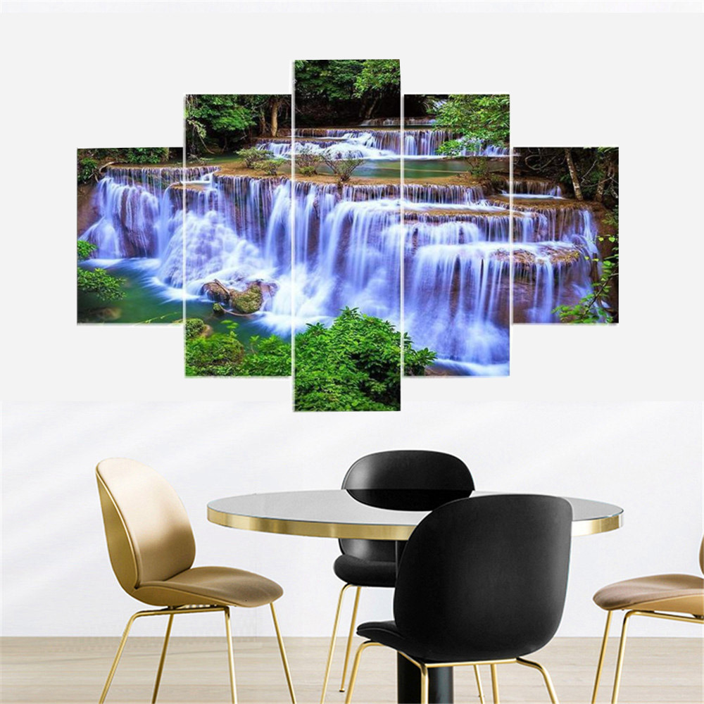 HUACAN Diamond Painting 5pcs/set Landscape Needlework Cross Stitch Full Square Diamond Embroidery Multi-picture DIY Gift