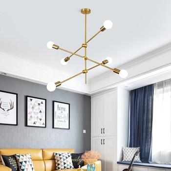 Magic Bean Molecular Chandelier Lights Rotatable Adjustment Luxury Brass Color Living Dining Room Bedroom Ins Wind Lamps