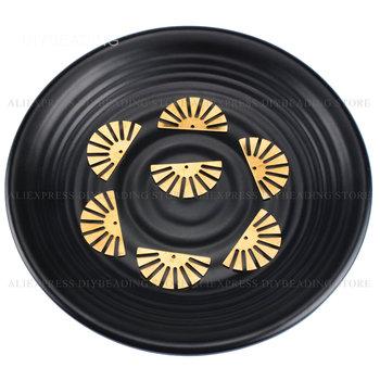 10-500 szt Uroku wisiorek komponent do wyrobu kolczyka pół słońca półokrągła urocza metalowa znalezienie materiału Online hurtowo tanie i dobre opinie NoEnName_Null CN (pochodzenie) Złącza 2 4cm Half Sun Charm linki do biżuterii Miedziane 1 2cm TD100