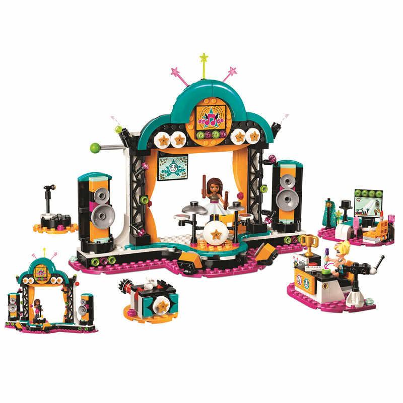 11203 legoinglys Vrienden Andrea's Talentenjacht Andrea Chloe Bouwstenen Kit Bricks Classic Model Speelgoed Voor Meisjes Gift 41368