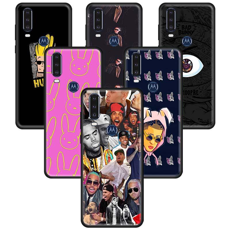 Bad Bunny Case For Motorola Moto G8 Play G Power Lite E6s Stylus One Hyper Edge Plus Silicone Phone Coque