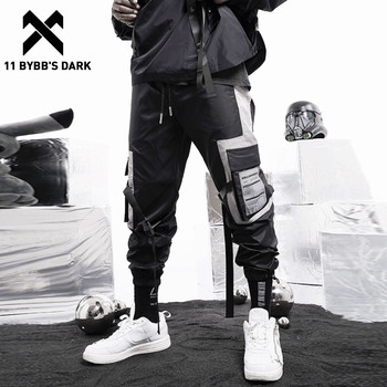 11 BYBB'S DARK Pockets Patchwork Hip Hop Cargo Pants 2020 Harajuku Sweatpants Streetwear Fashion Ribbons Joggers Men Trousers