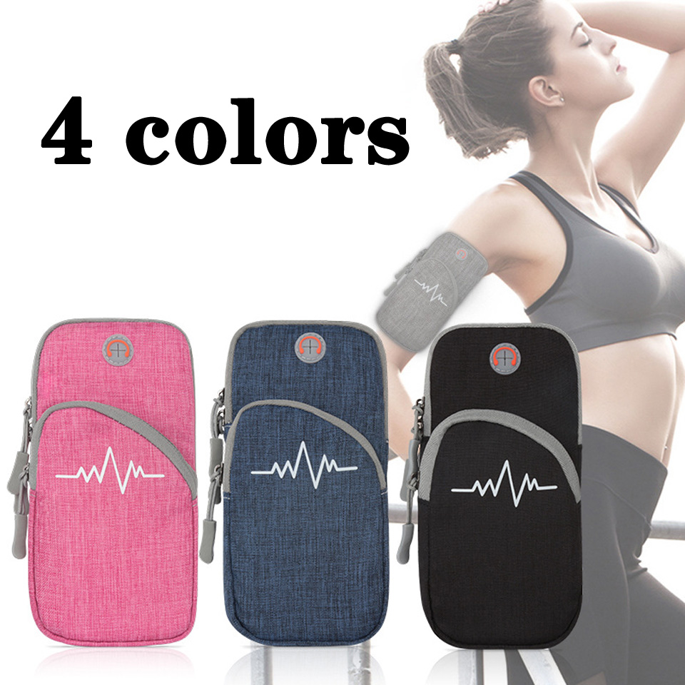 7 Inches Running Arm Bag Outdoor Sports Jogging Wrist Armband Bag  Pouch Waterproof Phone Holder Case Bags Gym Fitness Yoga Bags