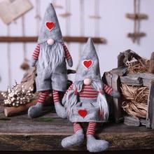 Weihnachten Dekoration Gebunden Bart Hängen Beine Keine Gesicht Puppe Szene Hause Hängen Beine Rudolph Drop Ornamente 2020 112