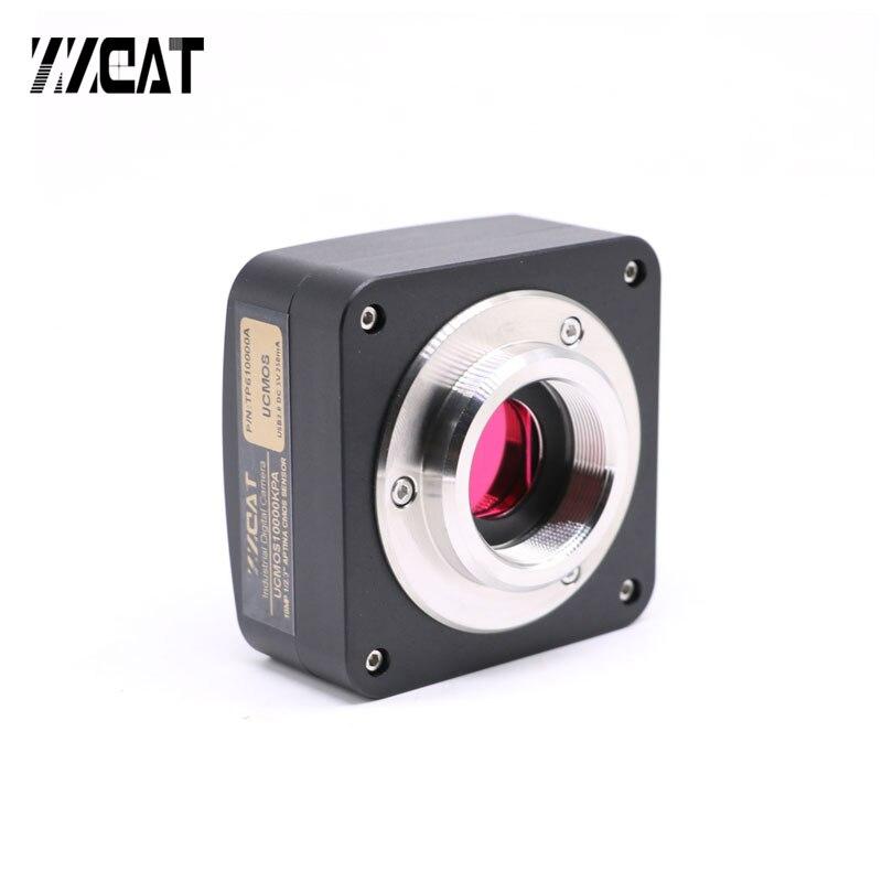5MP 10MP 14MP USB 2.0 haute vitesse caméra industrielle CCD HD électronique oculaire c-mount adaptateur CMOS Microscope caméra