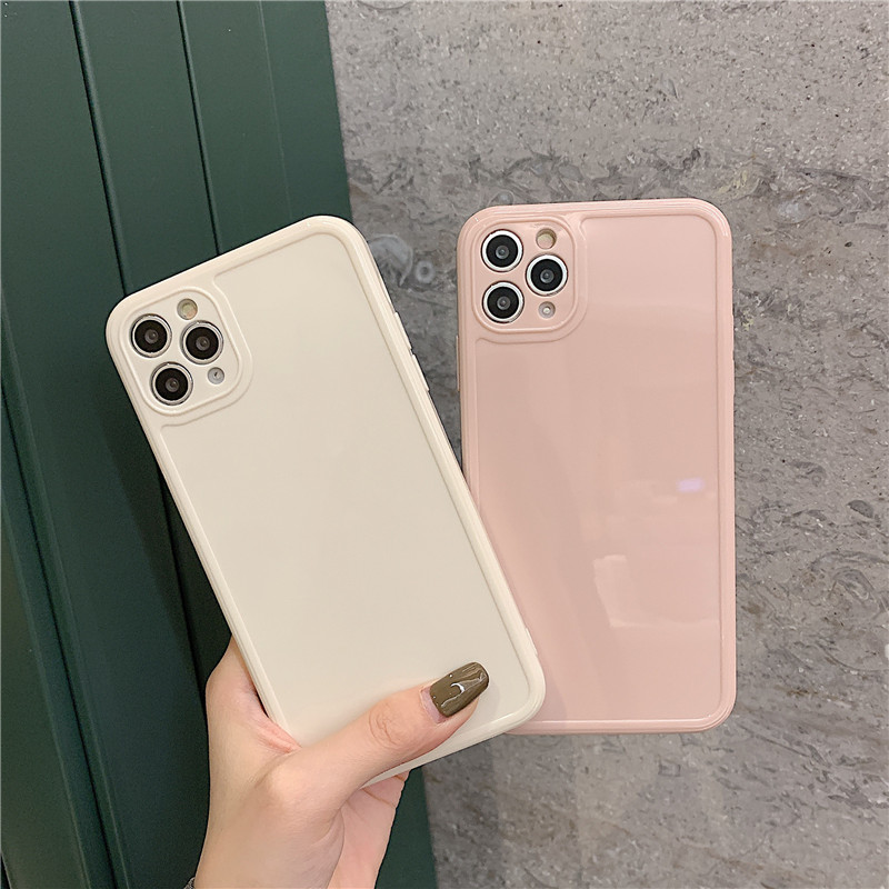 Luxury Vintage Fashion Square Solid Candy Color Ultra-thin Liquid Silicone Phone Case for iPhone 12 Pro Max  1