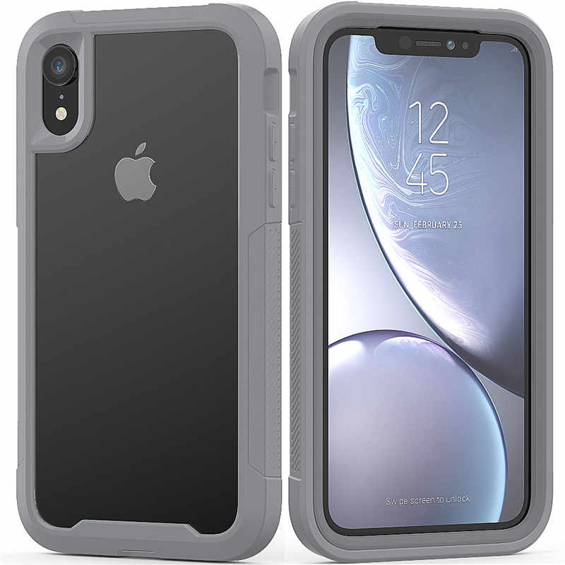 ทหาร Shock Absorption Case สำหรับ iPhone X XR XS XS MAX Transparent Ultra-Thin PC + TPU กรณีป้องกันสำหรับ iPhone 6 6S 7 8 PLUS