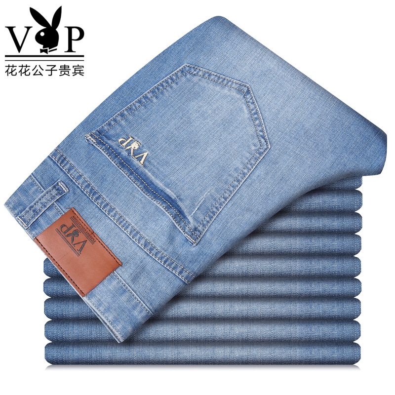Playboy Stretch Jeans Men's Spring And Summer Thin Section Straight Men's Pants Business Casual Men's High-quality Pants