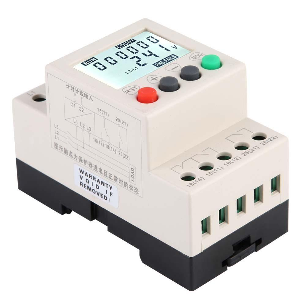 High Precision Under Over Voltage Protector 3 Phase Voltage Monitoring Sequence Protection Relay Electric Measuring Instrument