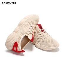 RGKWXYER New Men Air Mesh Casual Shoes Breathable No-slip Sneakers Lace up Wear-resistant Single Student Flat 2019