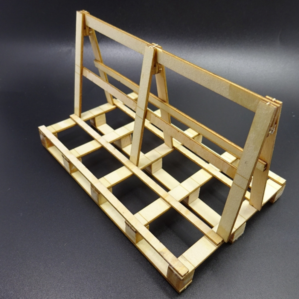 Glass Transport Wooden Frame Support Model Scene Decoration For Tamiya 1/14 RC Truck Tipper Scania Actros RC Crawler TRX4 SCX10
