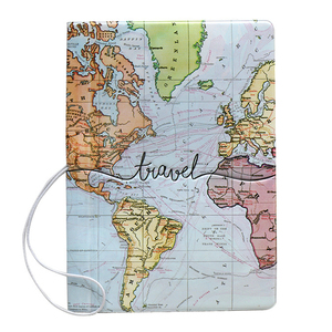 Creative World Map Passport Cover Wallet Bag Letter Men Women Pu Leather Id Address Holder Portable Boarding Travel Accessories(China)