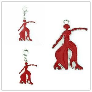 GREEK Delta Sigma Theta Sorority red Fortitude Dangler Charm For DIY Fashion Women Men(China)