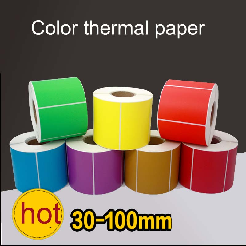 1roll colorful Waterproof sticker printing label TOP Direct Thermal Labels packing /price labels Zebra