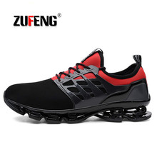 ZUFENG Men Running Shoes Big size Blade Sole Sneakers Outdoor Sport Shoes Men Professional Training Shoes Athletic Jogging Shoes original mizuno wave prophecy 6 professional weightlifting shoes men sneakers outdoor high quality sport sneakers size 40 45