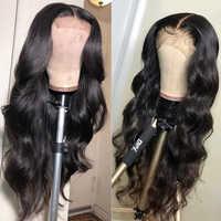 13 4x4 de la onda del cuerpo de la peluca con malla Frontal Hd transparente la frente de encaje pelucas de cabello humano brasileño para las mujeres negras cierre 4x4 peluca Frontal