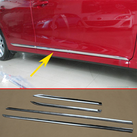 Chrome Parts Fit For Mazda 3 M3 Side Door Body Molding Protect Stripes 2014 2015 2016 2017 2018 Exterior Accessories 4pcs