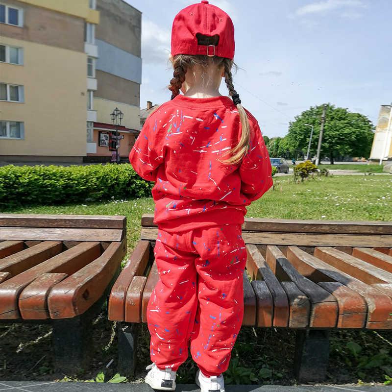 Yürümeye başlayan kıyafetler erkek giysileri sonbahar kış çocuk eşofman giysileri kapşonlu + pantolon çocuk giyim takım elbise için erkek setleri 2 3 4 yıl