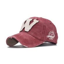2019 Cotton Embroidery Letter W Baseball Cap Snapback Caps Bone casquette Hat Distressed Wearing Fitted Hat For Men Custom Hats цена в Москве и Питере
