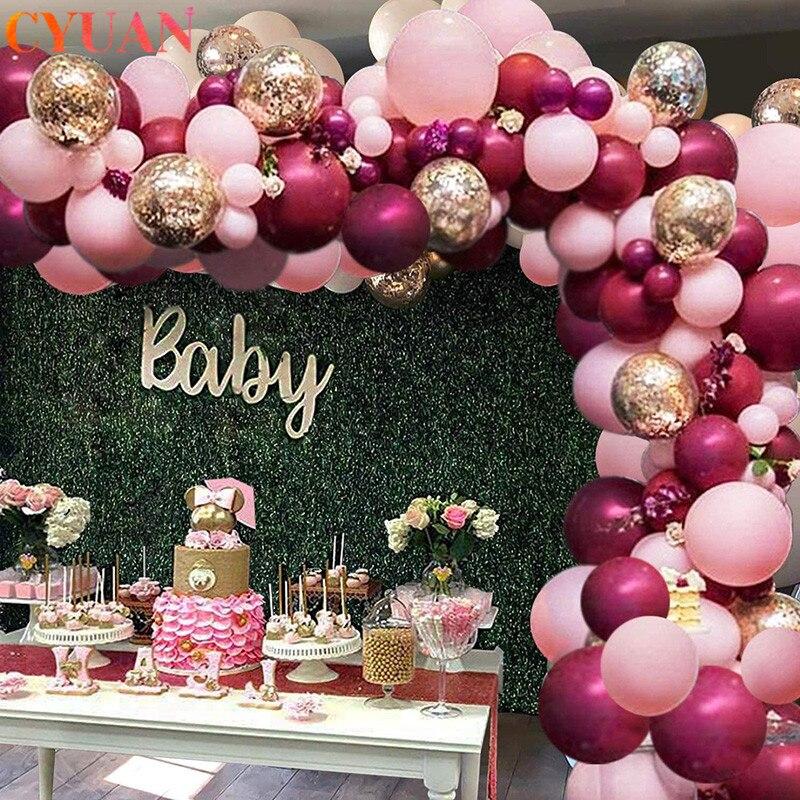 118 шт ярко-розовые воздушные шары-гирлянды арочный комплект конфетти баллон Свадьба День рождения задний фон балон Декор Globos дети ребенок д...