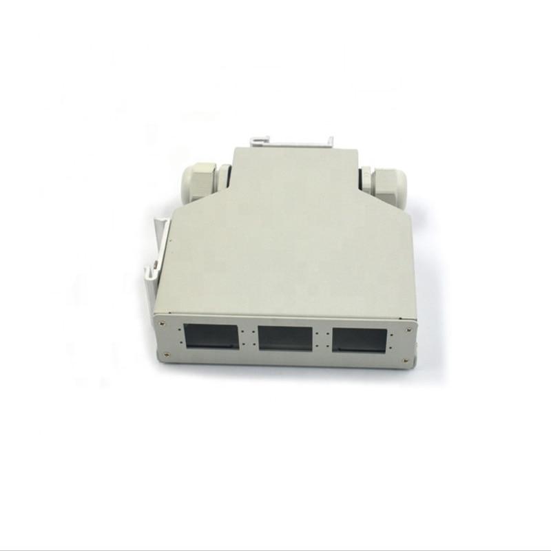 6-port SC Duplex Adapter LC Quadruplex Adapter Fiber Optic Patch Panel Din Rail Box
