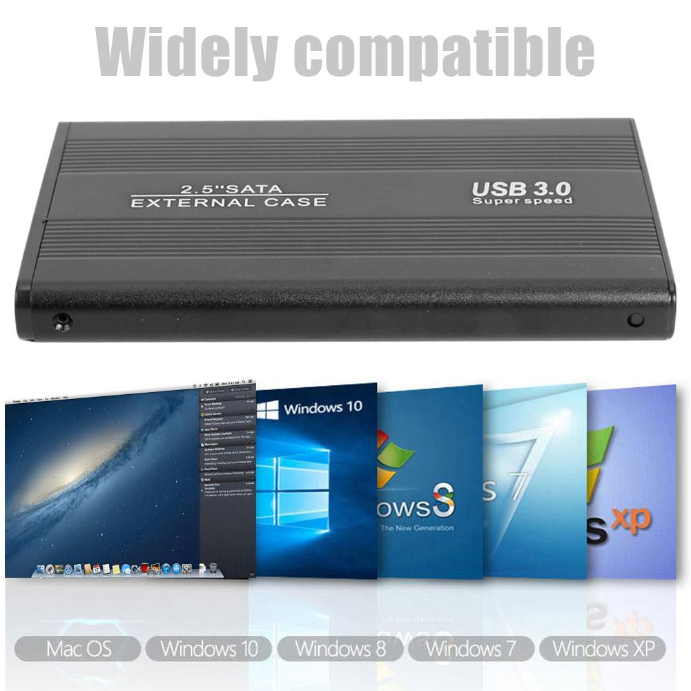 2.5 inch HDD USB 3.0 to SATA External Portable 6-Gbps SSD Hard Drive Enclosure Aluminum Alloy+ABS Material