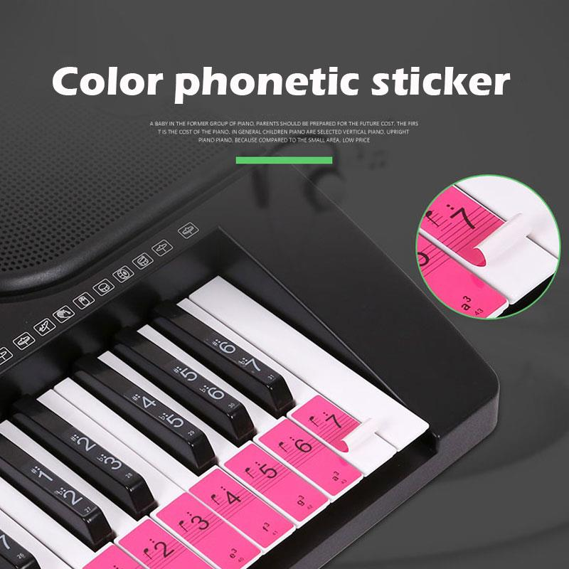 Music Sticker Instrumental Piano Education Tool Study Colorful Paper Professional Practical Musical Symbol Sticker Art